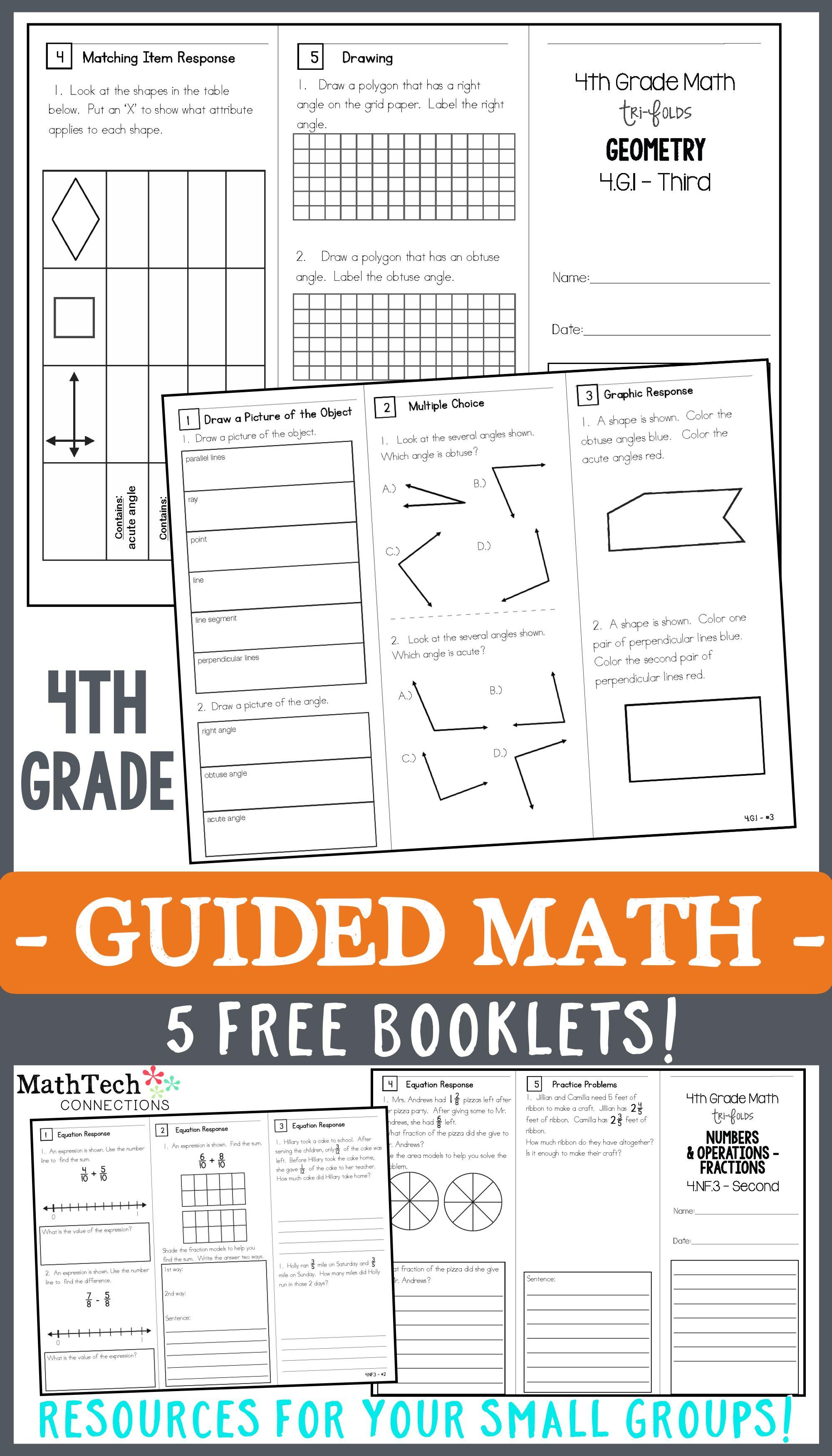 4th Grade Math Trifolds