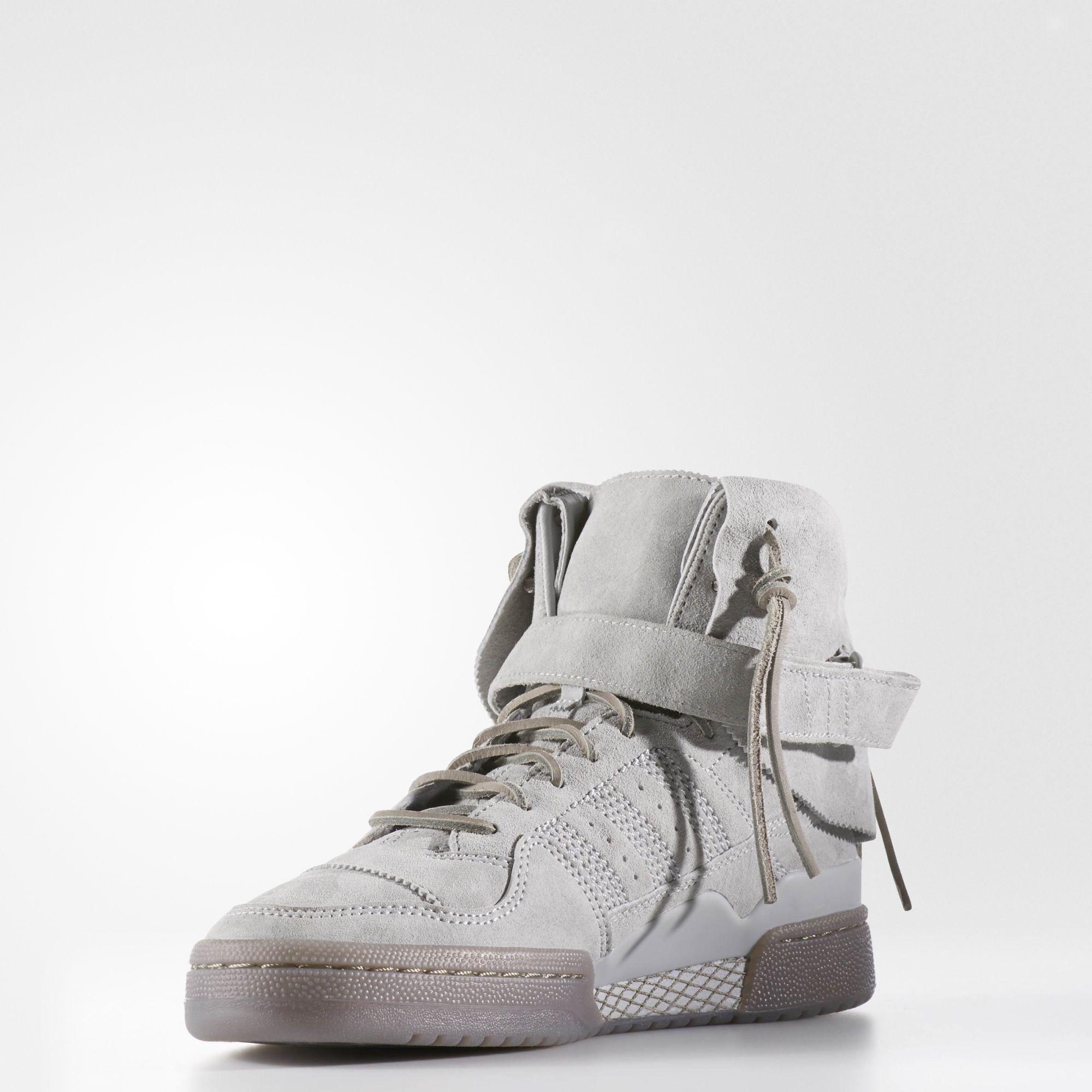 new style 5318c 9d24b adidas - FORUM HI MOC SHOES Stone  Ice Grey B27682