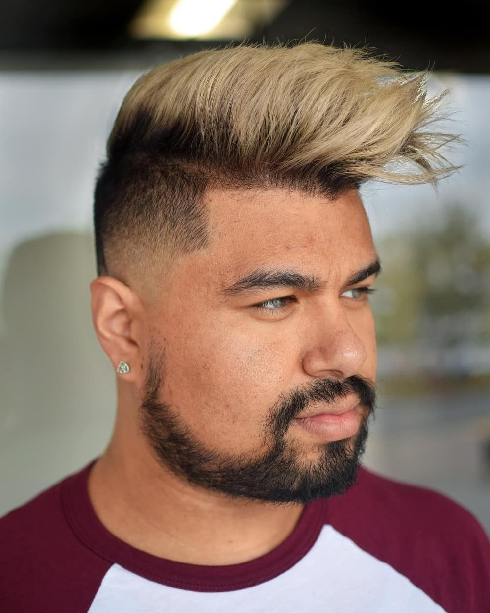 Mens Ash Blonde Hair Beach Fade Haircut And Haircolor Men Hair Highlights Faded Hair Mens Hair Colour