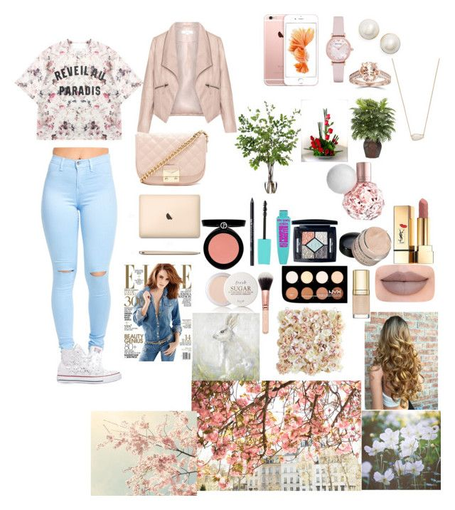 """Spring time⛅"" by fashion-dora15 ❤ liked on Polyvore featuring Momewear, Converse, Forever 21, Christian Dior, Urban Decay, NYX, Yves Saint Laurent, Jeffree Star, Armani Beauty and Emporio Armani"