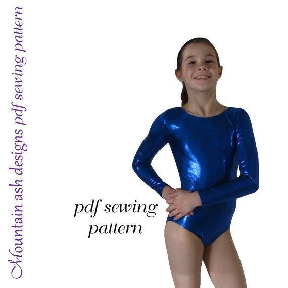 Leotards 2 pdf sewing pattern gymnastics gym dance jazz ballet ...