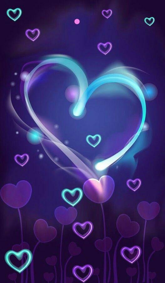33 Purple Iphone Backgrounds Heart Wallpaper Wallpaper Iphone