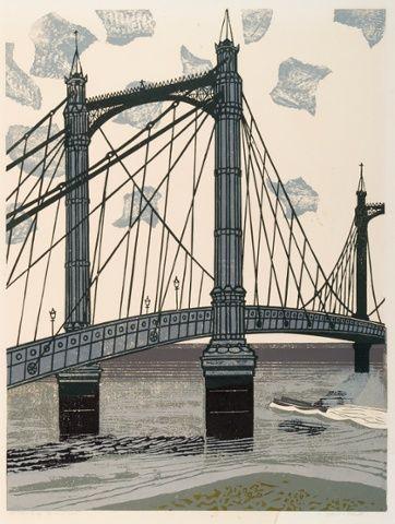 London through the eyes of illustrator and graphic for Design bridge london