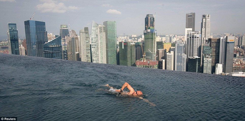 Don T Go Off The Very Deep End Infinity Pool 55 Storeys Above
