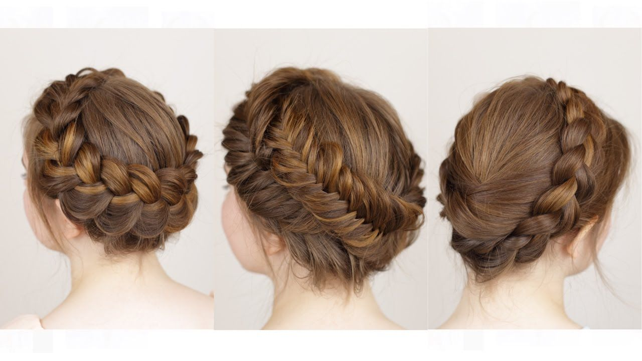 Braided fishtail hairstyles: double crown braid tutorial recommendations to wear in everyday in 2019