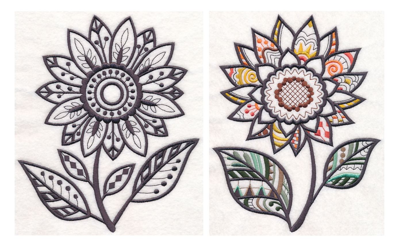Free Embroidery Designs: Sunflowers | pdf file | Pinterest