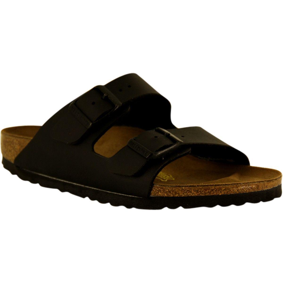 4f64376b9934 Birkenstock - Unisex Arizona Classic Footbed Sandals - Black Birko-Flor
