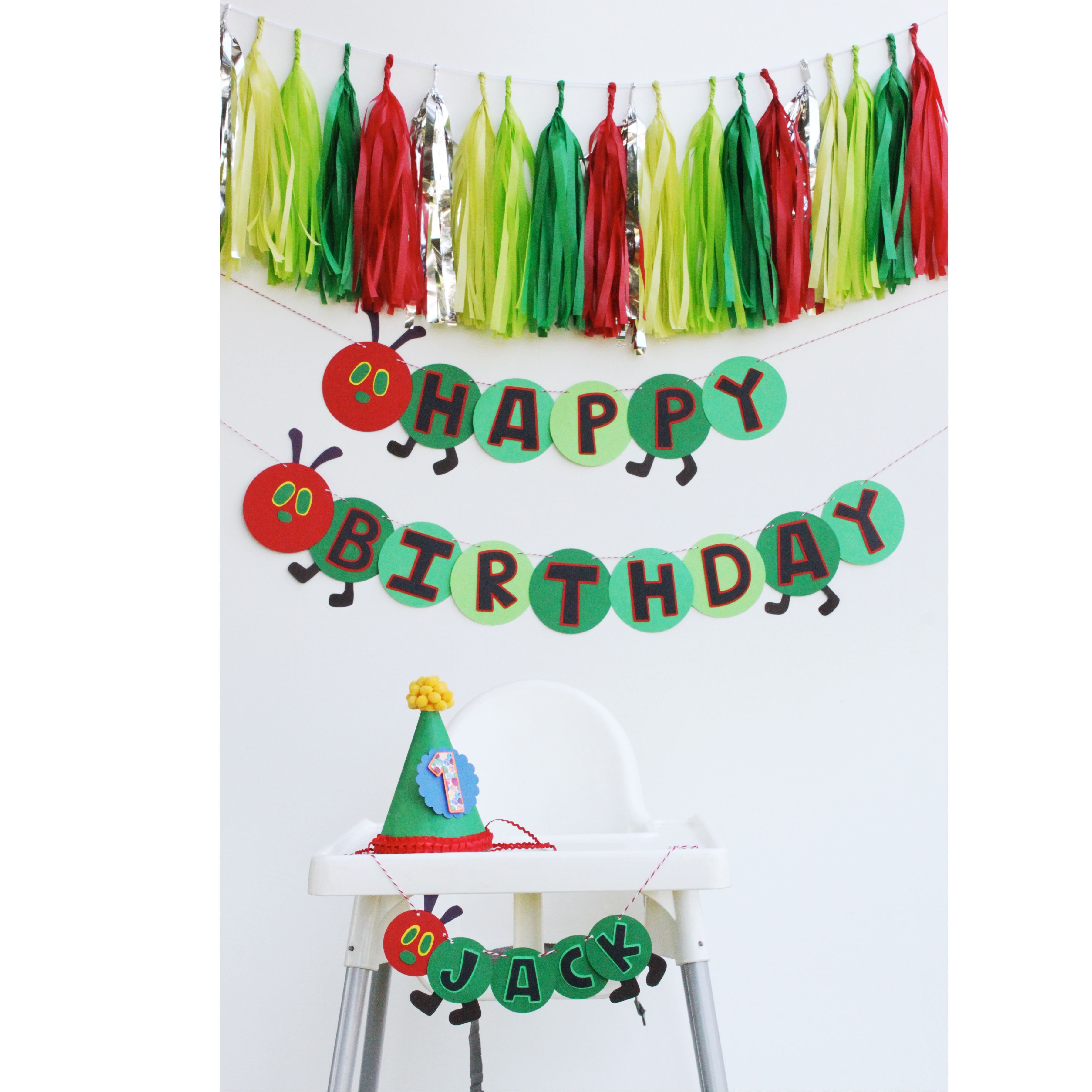 The Very Hungry Caterpillar birthday party decor. Yeah. I can make ...
