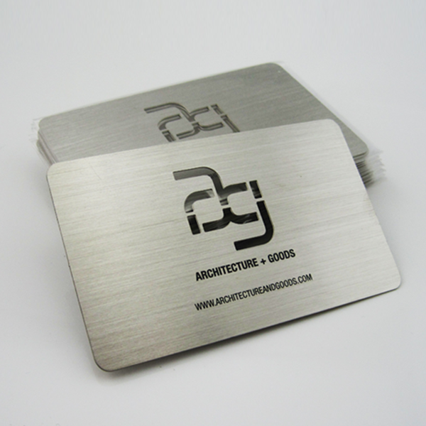 Brushed Stainless Steel Business Cards Metalbusinesscards