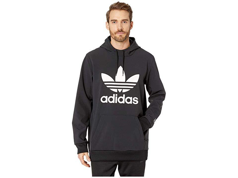 81b581227015 adidas Skateboarding Team Tech Hoodie (Black White) Men s Sweatshirt. Kick  push and