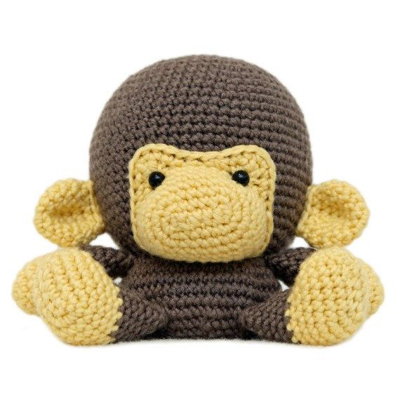 Cara grasa mono Amigurumi patrón por fatfaceandme en Etsy ...