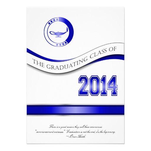 Blue 2014 Graduation InvitationAnnouncement in each seller make