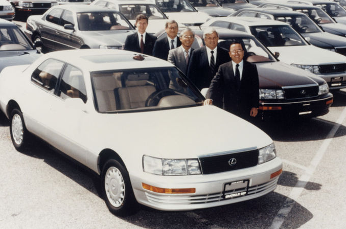 The date? 1989 The event? The first Lexus LS400 makes it