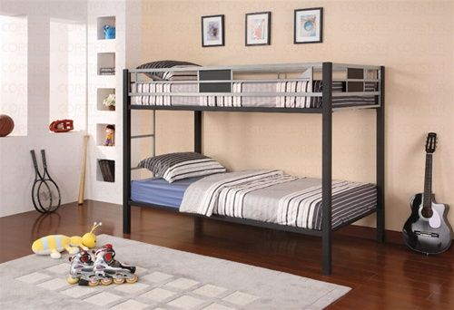 Best Clifton Black Silver Twin Bunk Bed Loft Beds For Teens 400 x 300