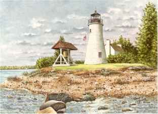 Old Presque Isle- Watercolor by Northern Michigan local, Beverly Young. We bought 3 of her works in Leland a few years ago, and love them. Now I want one of every lighthouse we visit!