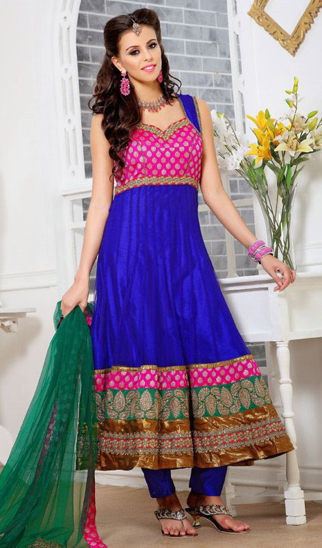 Loyal Latest Designer Blue Anarkali Salwar Kameez Indian Pakistani Fashion Wear Suit With The Most Up-To-Date Equipment And Techniques Other Women's Clothing