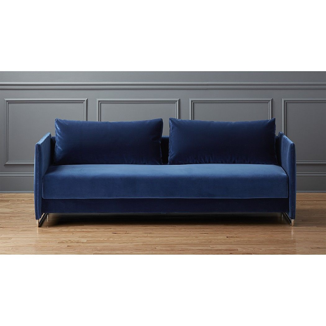 Super Tandom Navy Blue Velvet Sofa Dosa Navy Cb2 New Home Pabps2019 Chair Design Images Pabps2019Com