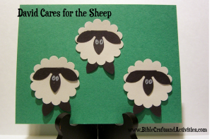 David the Shepherd Craft for Toddlers - could use with Jesus the