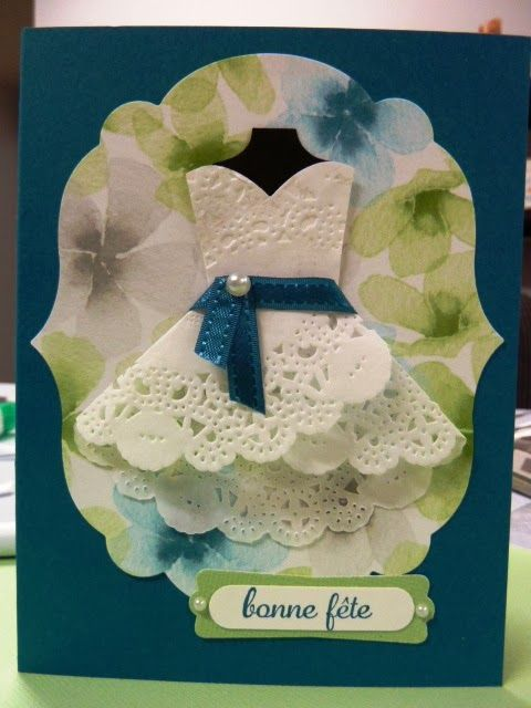 Passion Scrapbooking Stampin Up Birthday Card Paper Dress Cards