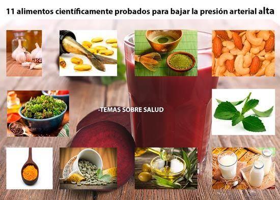 alimentos saludables que ayudan a bajar la presión arterial alta