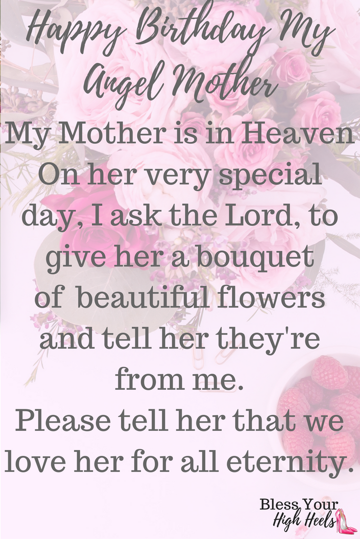 a birthday prayer for my mother in heaven