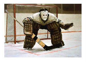 At The Crease Classic Goalie By Ken Danby Official Large Size Art Print Hockey Goalie Hockey Danby
