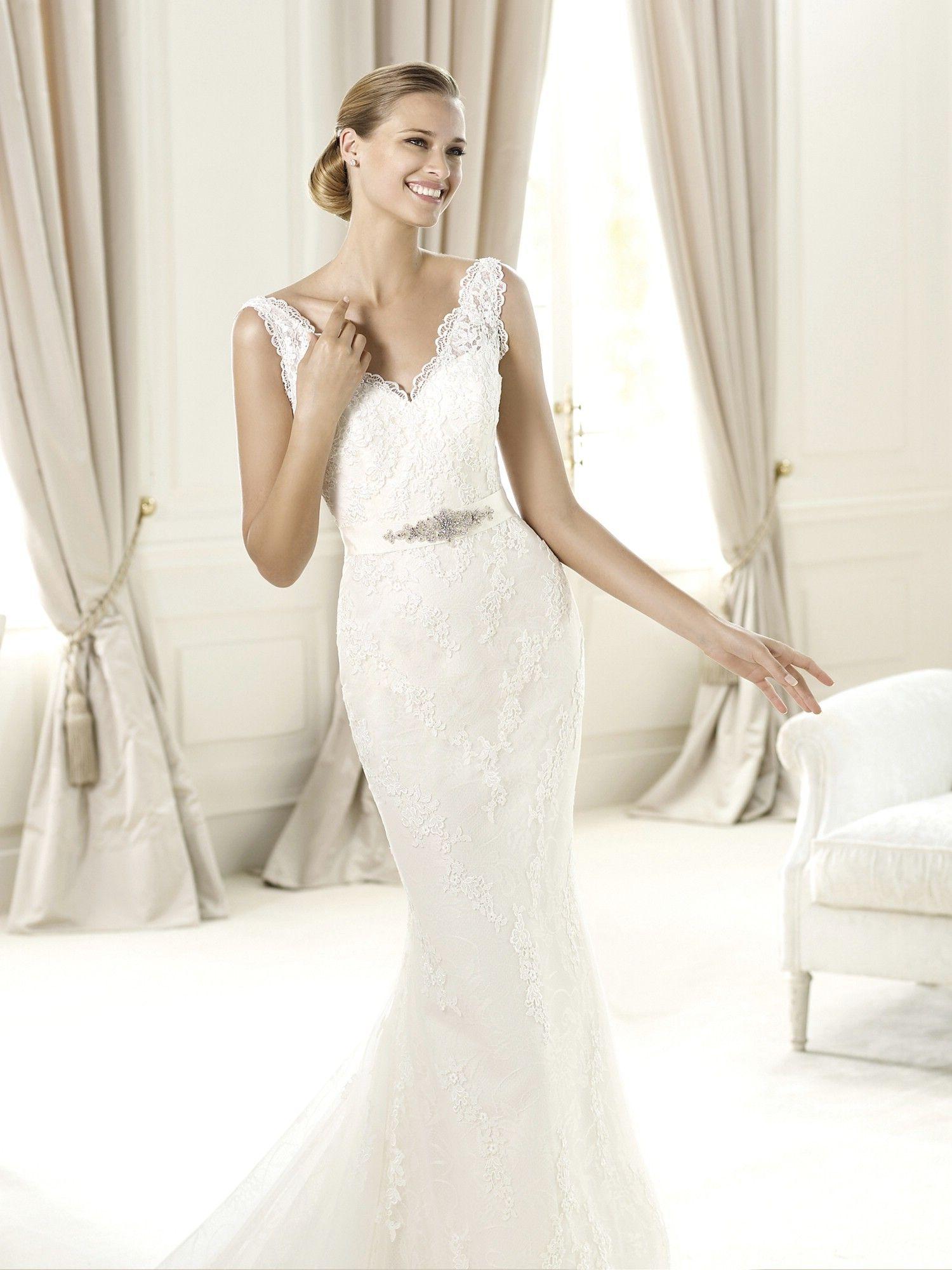 Vestido de novia Pronovias modelo Uzquita disponible en la tienda ...