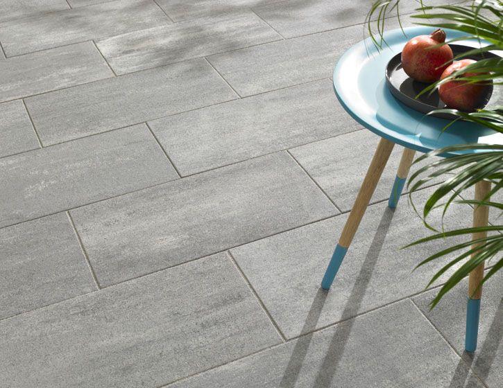 Stratos Terrassensteine in Titangrau Haus Einrichtung - ideen einrichtung der gartenterrasse