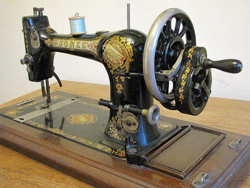 Antique Jones Hand Krank Sewing Machine Sewing Pinterest Custom Jones Cb Sewing Machine