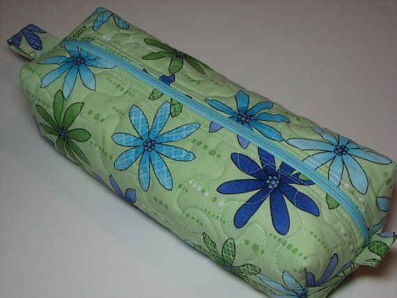 Boxy Zippered Pouch Makeup Case Hobby Bag by TheVillageBagLady
