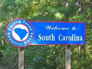 South Carolina South Carolina Carolina Girl Welcome Sign