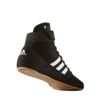 meet e5a8b f154e Adidas Men s Hvc 2 Wrestling Shoes - Black White 10