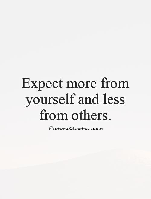 Expectation Sayings