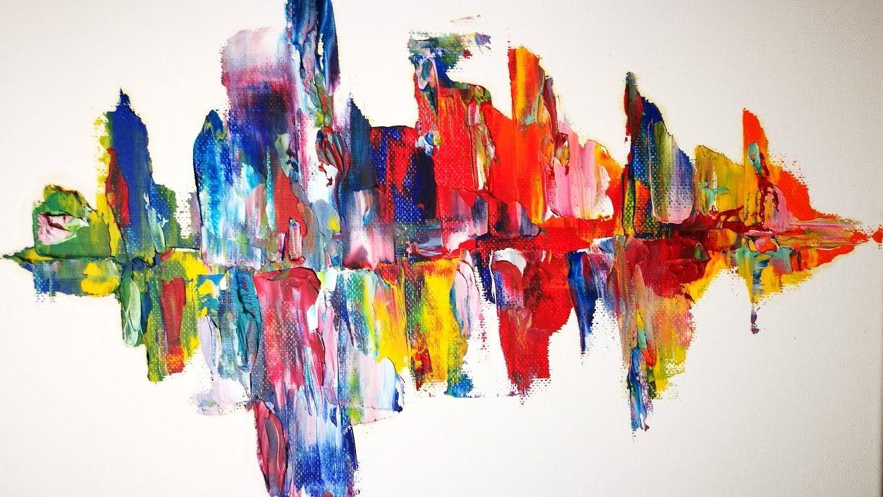 Rapide Et Facile Une Peinture Abstraite En 30mn Peinture Abstraite Peinture Tableau Abstrait