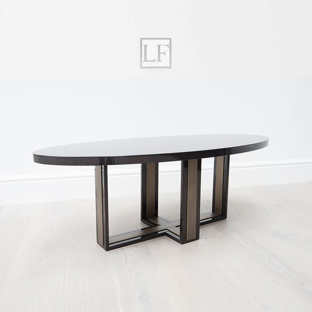 Luxuryfurniturelondon.com; brand new luxury coffee table; luxury coffee table; black high gloss oak & brushed Brass; stunning opean grain black oak; perfect for interiors ; Kensington Collection