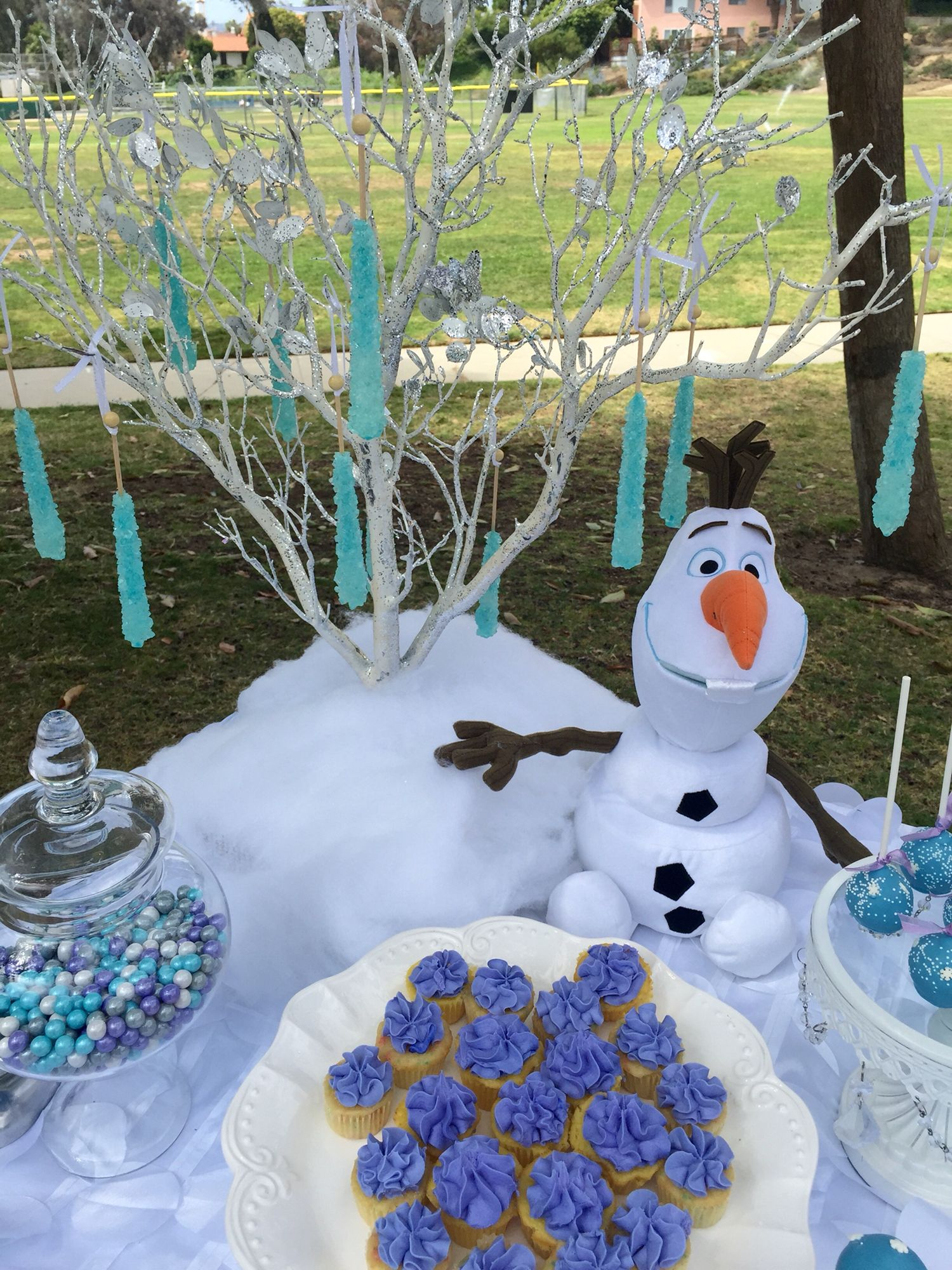 Frozen Dessert Table by Bizzie Bee Creations Candy Buffets By