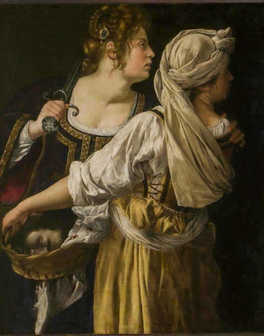Judith and her Maidservant, 1618-19, Artemisia Gentileschi