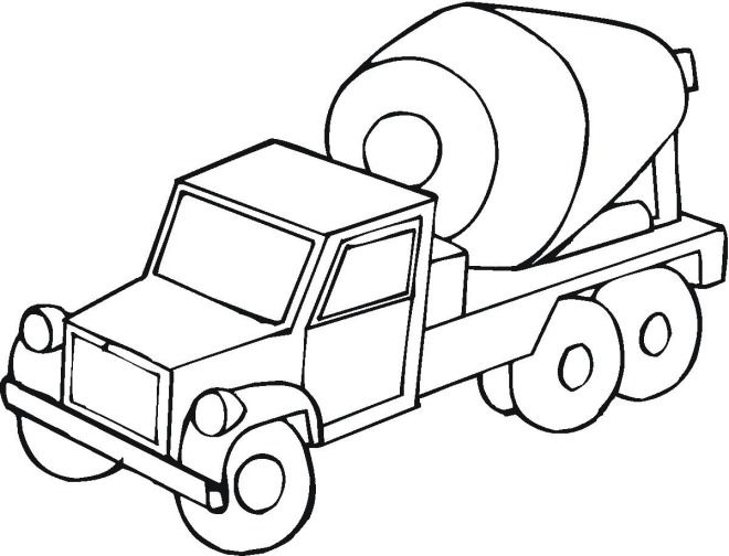 Cement Truck Coloring Page For Kids Coloring Pages Coloring