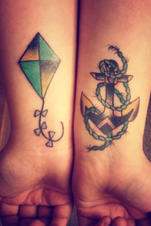 Fuckyeahtattoos The Anchor And The Kite These Shock To Your