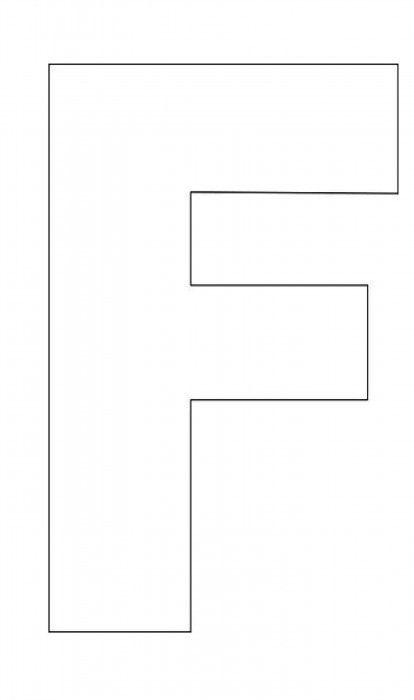 Alphabet-Letter-F-Template-For-Kids Alphabet Pinterest