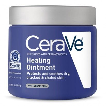 CeraVe Healing Ointment Skin Protectant, Non Greasy Feel - 12 oz #crackedskinonheels