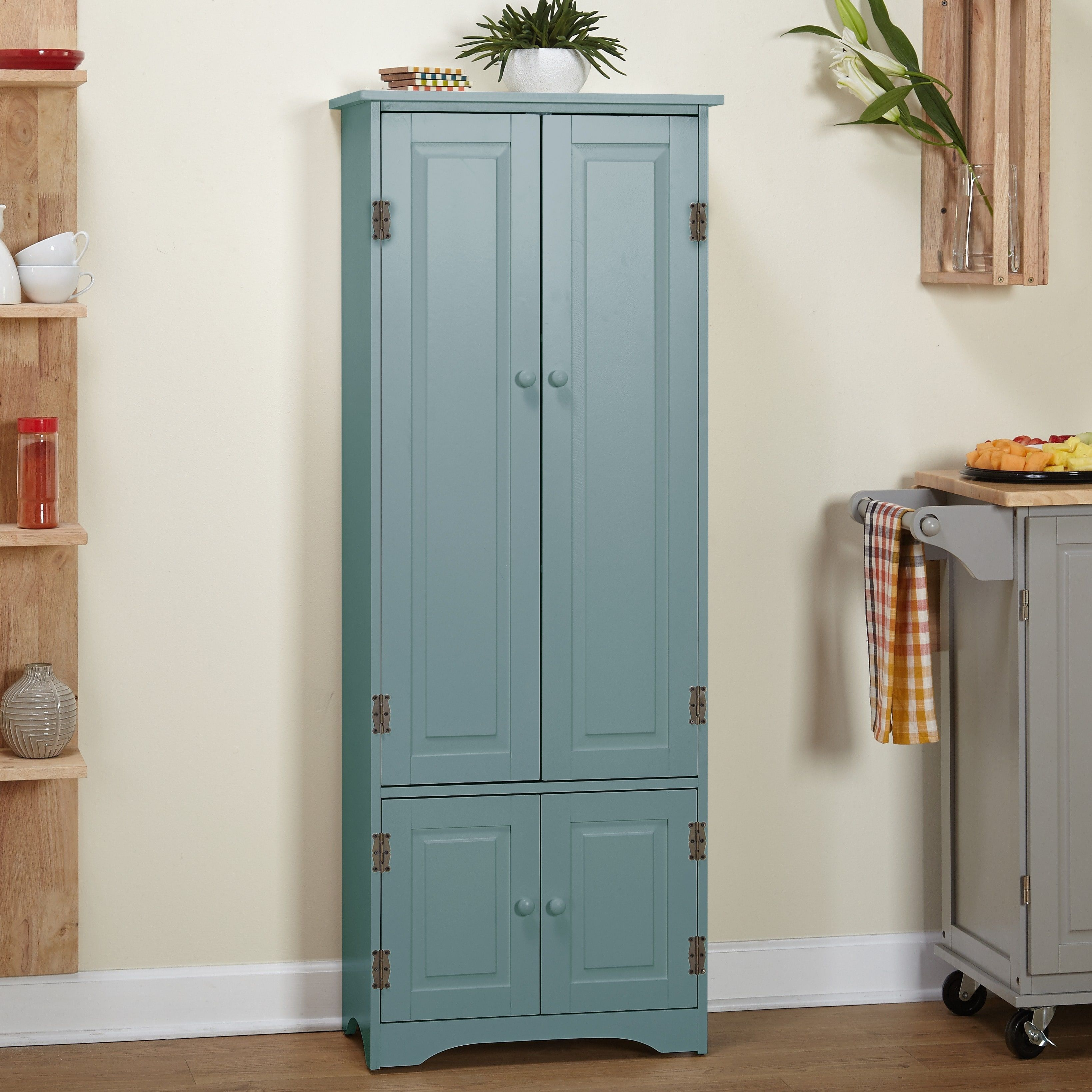 Simple Living Extra Tall Cabinet Antique Blue Products In 2019