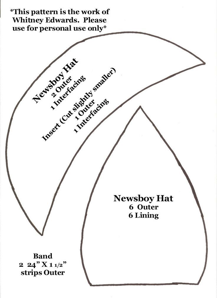 Whitney Sews Newsboy Hat Pattern Newsboy hat pattern