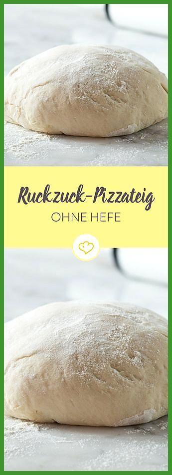 Schneller Pizzateig ohne Hefe #Fitness food meals #Fitness food pasta #Hefe #ohne #Pizzateig #Schnel...