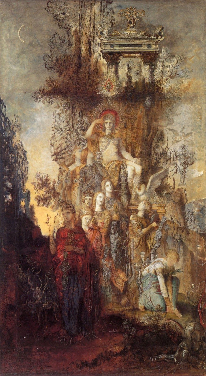 Gustave Moreau The Muses Leaving Their Father Apollo To Go And Enlighten The World Les Muses Quittent Leur Pere Apollon Pour Aller Illum Musee Apollon Art