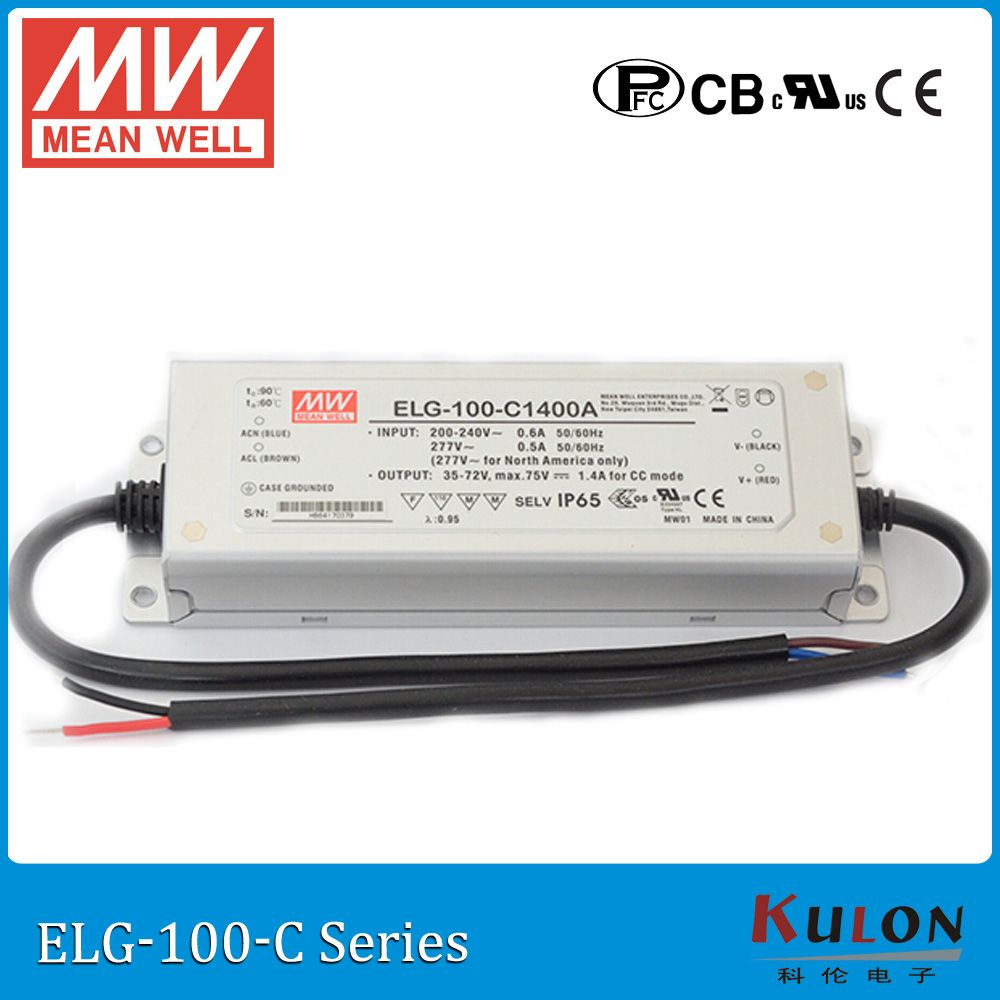 Original Mean Well Elg 100 C700b Constant Current Dimming Led Driver 700ma 71 143v 100w Pfc Meanwell Power Led Drivers Constant Current Electrical Equipment