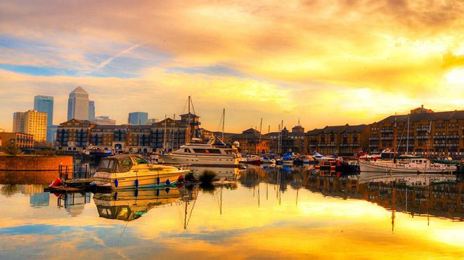 Limehouse at sunset. See more photos of London in the autumn: http://timeout.com/autumnphotos