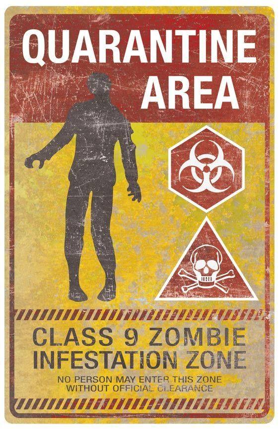 Halloween Warnung Zombie Schild Party Dekoration apocalypse Horror Gruselig