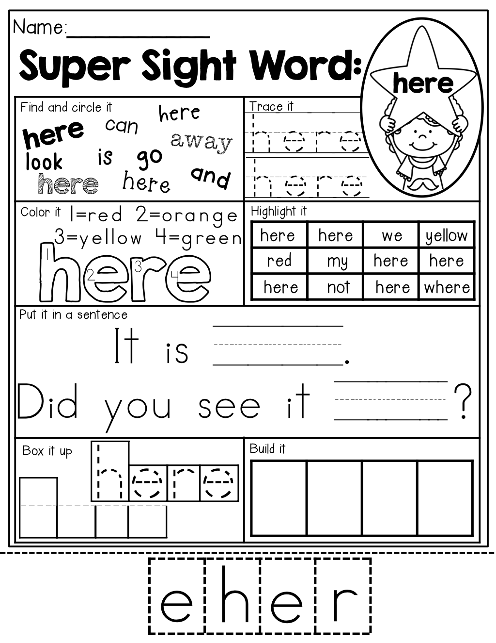 Worksheet Sight Word Practice Worksheets sight word practice 7 different ways to each sight