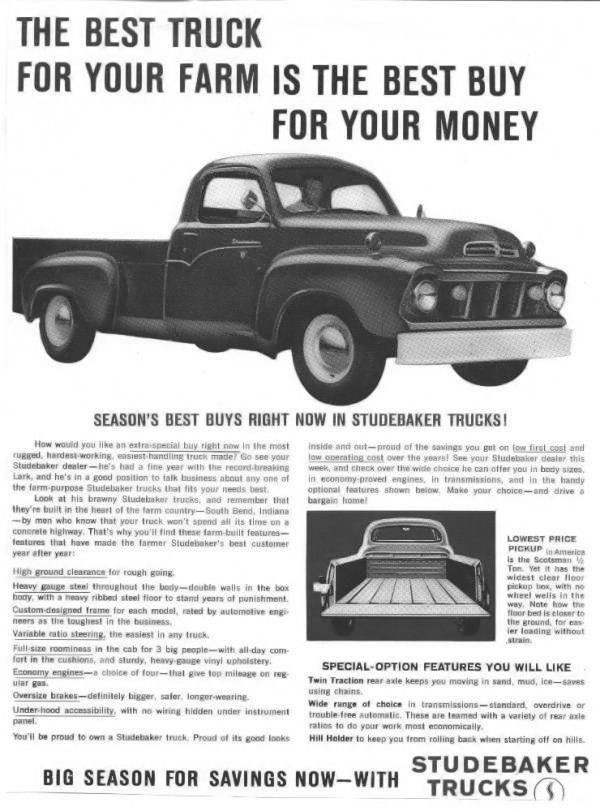 1959 Studebaker Truck Ad Studebaker Trucks Vintage Trucks
